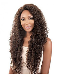 Women lady Long Curly Synthetic Hair Wigs