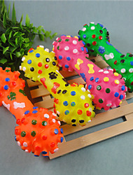 Dog Pet Toys Chew Toy Dumbbell Green / Yellow / Rose Rubber