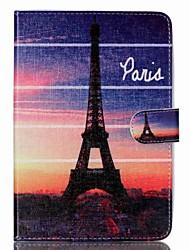 tour eiffel cuir Folio Stand cas de couverture avec support pour iPad mini-3/2/1