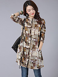 Women's Spring Retro Print Shirt
