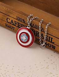 Movie Acc Captain American Shield Pendant Necklace