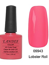 LUNDLE 09943 Soak Off UV Nail Gel Color Gel LED Manicure Gel Lobster Roll