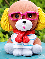 Lovely Glasses Puppy Piggy Bank Personality Cartoon Piggy Bank