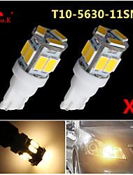 2x T10 W5W 192 168 194 7014 5730 11 11smd conduit chaud lumières blanches latérales coin conduit 12v de lumière