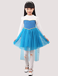 Girl's Blue Dress,Dresswear Cotton Spring / Fall