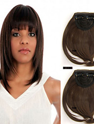 Popular Clip in Synthetic Bang with Full Bang Medium Golden Brown Color