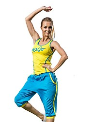 Yoga Clothing Sets/Suits Pants + Tops High Breathability / Removable Cups  / Compression High Elasticity Sports Wear