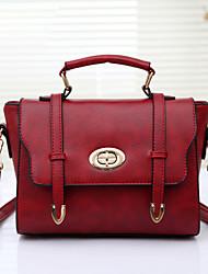 Women's Fashion Vintage PU Leathe Messenger Shoulder Bag/Tote