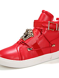 Men's Shoes Nappa Leather Outdoor / Athletic Boots Outdoor / Athletic Flat Heel Crystal / Sequin Black / Red / White