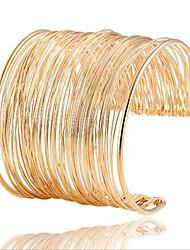 Women's Cuff Bracelet Alloy Statement Jewelry Golden Jewelry 1pc