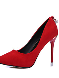 Women's Wedding Shoes Heels / Round Toe / Closed Toe Heels Wedding / Party & Evening / Dress Black / Red / White