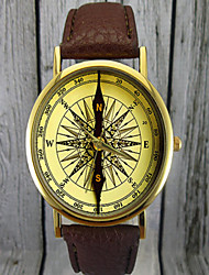 Vintage Compass Watch, Leather Watch,Women's Watch,Men's Watch,Gift for Her,Gift Idea,Custom Watch,Fashion Accessory Cool Watches Unique Watches