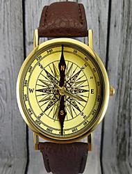 reloj de la vendimia brújula, reloj de cuero, reloj de señora, reloj de los hombres, regalo para ella, idea del regalo, reloj