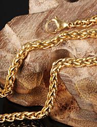 Titanium Steel 18 K Gold Necklaces Personality