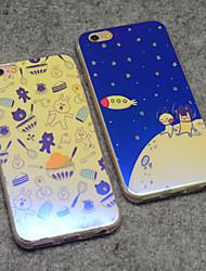 cony urso marrom coelho e estrelas dos desenhos animados da lua de blu-ray reflexo suave da tampa do caso TPU para iphone 6s plus / iphone