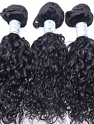 "Luffy Hair 10""-26"" Unprocessed Brazilian Loose Curl Hair Weave Natural Color Virgin Hair Extensions 3pcs/set"