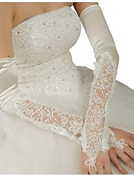 Opera Length Fingerless Glove Satin Bridal Gloves