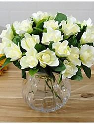 Soie Gardénia Fleurs artificielles
