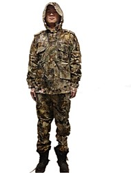 Ourdoor Camouflage Coat Suit , Waterproof Jacket Parka Camo Hunting Suits Clothing for Hunting Fishing(Jacket+ Trousers)