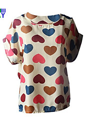 Ronde hals - Polyester Vrouwen - T-shirt - Mouwloos