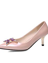 Women's / Girl's Wedding Shoes Heels Heels Wedding / Office & Career / Party & Evening / Dress Black / Pink / Purple