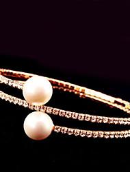 Goud / Zilver Dames Cuff armband / Streng / Tennis Armbanden Imitatie Parel