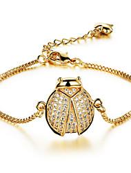 Beatles Ms Fashion Elegant 18 K Gold Zircon Bracelets