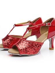 Obyčejné - Dámské - Taneční boty - Latina / Salsa - Pažetky - Na zakázku - Černá / Červená / Stříbrná / Zlatá / Jiná