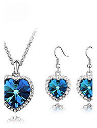 MISSING U  Crystal / Alloy / Rhinestone Jewelry Set Necklace/Earrings Daily / Casual Jewelry Sets