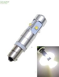 bax9s h6w cree xp-e levou 25w 1600-1800lm 6500-7500k ac / dc12v-24 luzes indicadoras de virar branco - prata transparente