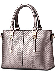 Women Bags All Seasons PU Shoulder Bag Tote with Rivet for Wedding Event/Party Shopping Casual Formal Outdoor Office & Career Coffee Red
