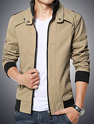 Men's Fashion European And American Style Casual Stand Collar Slim Jacket
