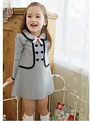 Girl's Institute Of Fashion Wind Holiday  False Two Pieces Dress