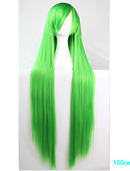 Anime Cosplay Wig Green 100 CM Long Straight Hair High Temperature Wire
