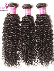 3 шт класса 7а Малайзии девственные волосы переплетения Малайзии вьющиеся волосы девственницы человеческих волос пучки