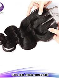 Fechamento de cabelo em três partes onda corpo de fecho rendas virgem virgem encerramento Brasileiro 8-18inch