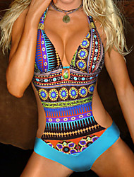Women's New Style Bohemian Brazilian Padded One Piece Swimwear