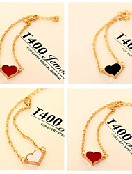 High quality Heart Shape Chain Bracelet(Black White Red)