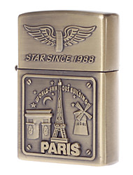 LYGF Windproof Flameless Electronic Pulse Arc Cigarette USB Charging Cigar Lighter Rechargeable Eiffel Tower Pattern