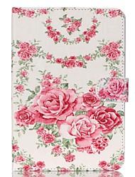 roses en cuir folio cas de couverture de stand avec support pour iPad mini-3/2/1