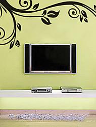 Black Flower Vine TV Backdrop Wall Stickers