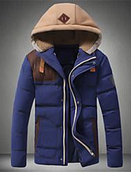 Men's Hoodie Coats & Jackets , Cotton / Polyester Long Sleeve Casual / Work Fashion Winter / Fall Plus Size Jiya