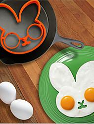 desenhos animados modelo de coelho frito dispositivo ovos