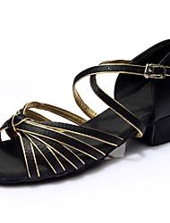 Women's  Girl's Sandals Kids' Latin Dance Shoes Ballroom / Salsa / Samba Satin / Leatherette Flat Heel (More Clore)