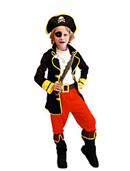 Cosplay Costumes Pirate Movie Cosplay Black Top / Pants / Belt / Mask / Breastplate / Hat Halloween / Christmas / New Year Kid Polyester