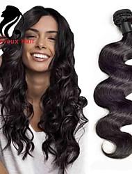 1bundles color natural de la onda del cuerpo del pelo indio 8-26inch cabello humano virginal teje