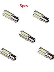 5шт hry® 6 Вт одна тысяча сто пятьдесят шесть 5630 33smd белого цвета супер яркий хвост оборота лампы накаливания свет автомобиля 12В