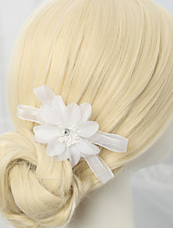 Women's Flower Girl's Rhinestone Alloy Chiffon Headpiece-Wedding Special Occasion Hair Combs 1 Piece