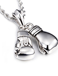 2016 New Design 316L Stainless Steel Power Boxing Fist Pendant Necklace Fashion Collar Long Chain Necklaces For Men Christmas Gifts