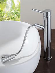 nuovo ottone cromato monocomando maniglia estraibile lavello estraibile rubinetto miscelatore rubinetto del bagno miscelatore del bacino